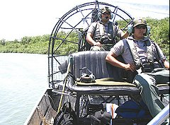 Border Patrol Air Boat
