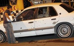 Bullet-Ridden Car in Juarez