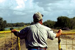 Fermin Leal-Rancher at Border Fence