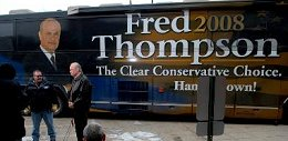 Fred Thompson bus