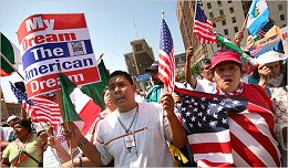 Illegals Protest May Day 2008
