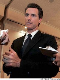 Mayor Gavin Newsom of San Francisco