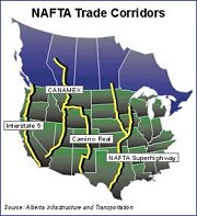 NAFTA Superhighway Corridors Map