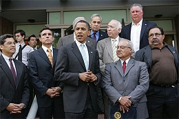 Obama and Hispanic Caucus