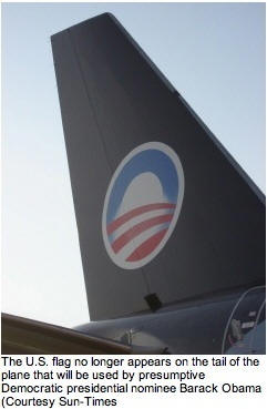 American Flag removed from Obama's jet