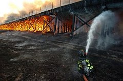 Railroad Trestle Fire