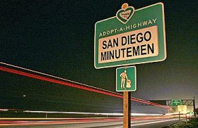 San Diego Minutemen sign