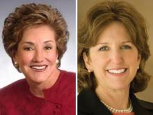 Senator Dole and opponent Hagan