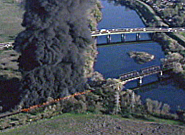 Union Pacific Train Trestle Fire